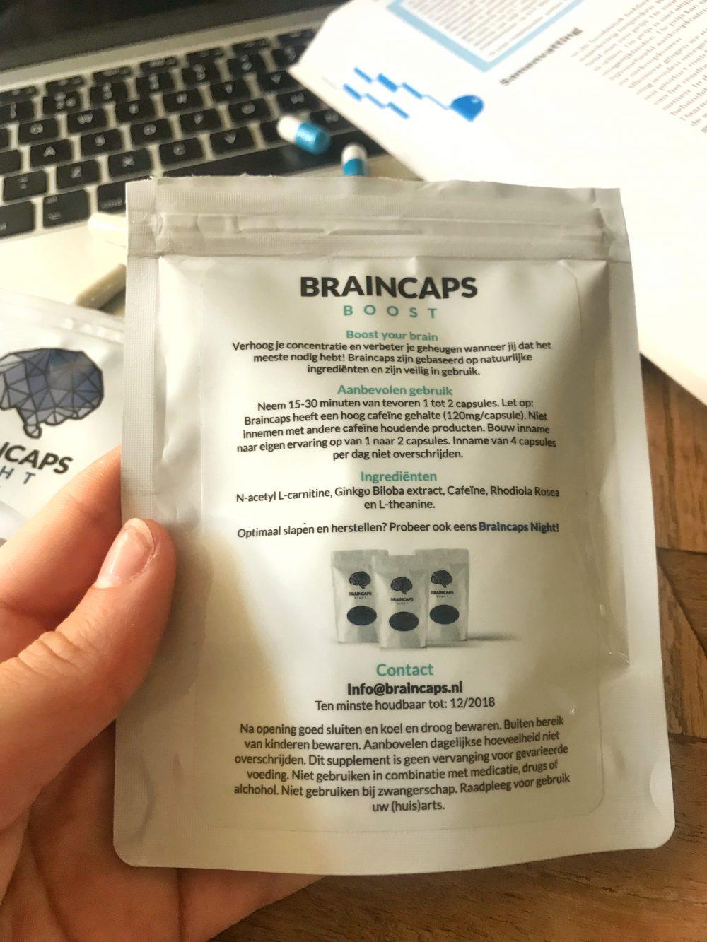 Braincaps Boost ingredients