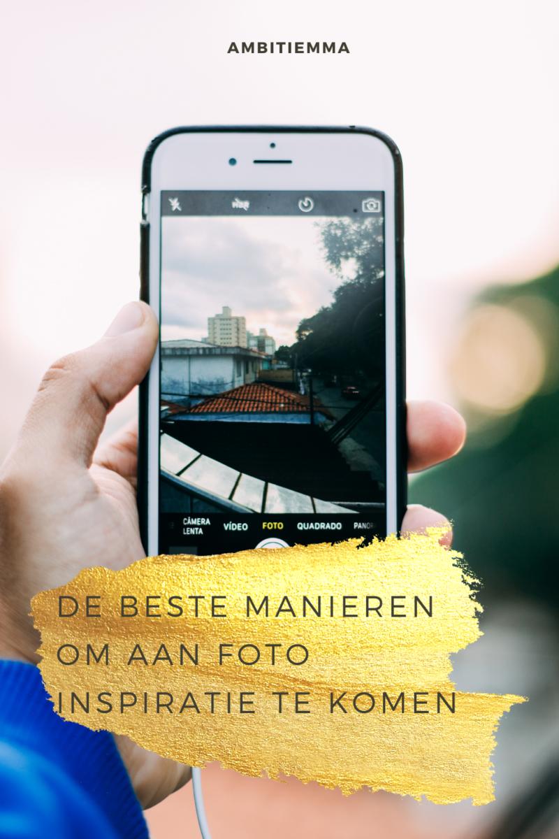 De beste manieren om aan foto inspiratie te komen