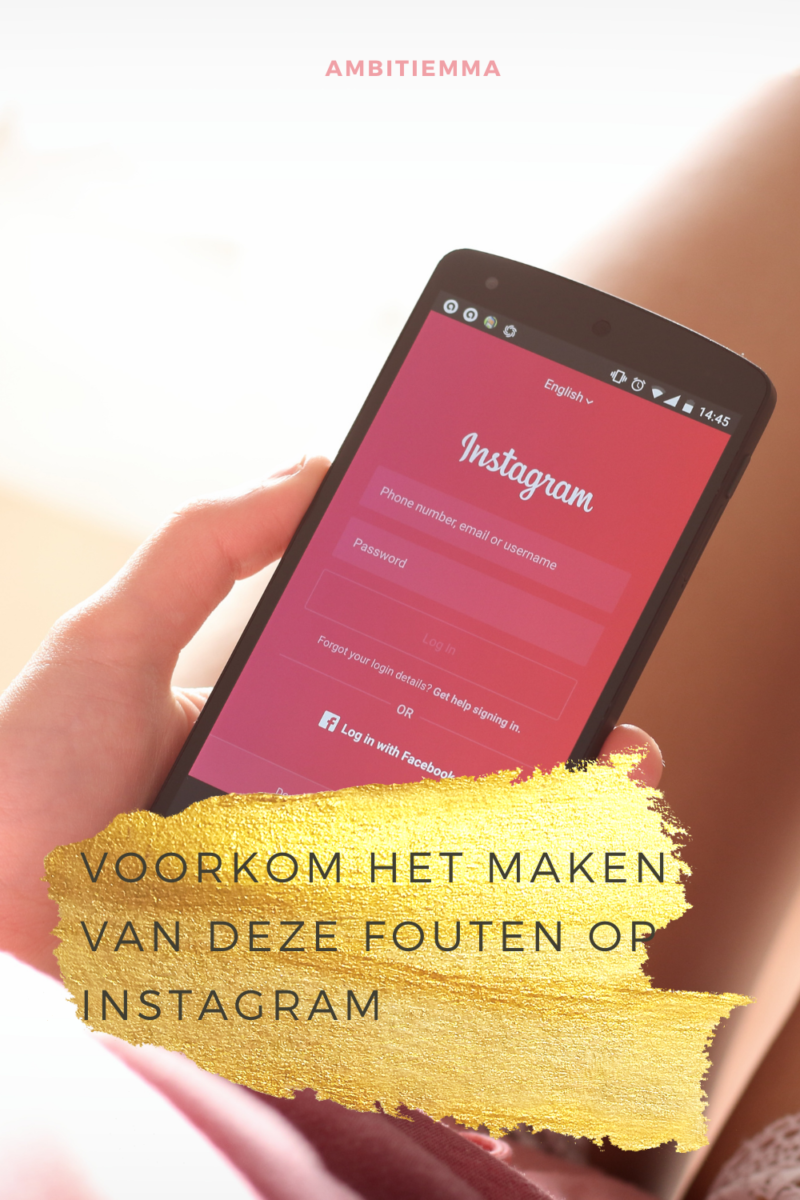 Pinterest: Fouten op Instagram